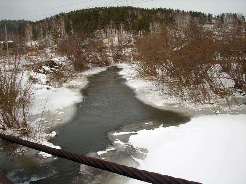 Вид с моста на Ушайку
