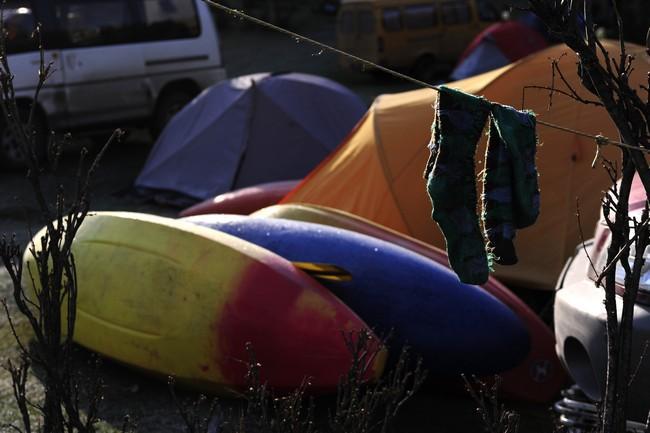 Каяки и палатки