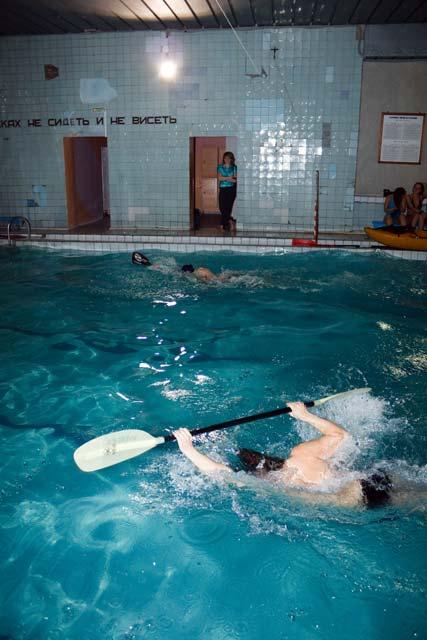 плавание с веслом