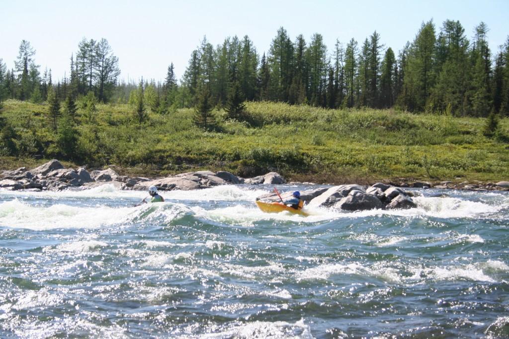 Большой Харпский порог, река Собь