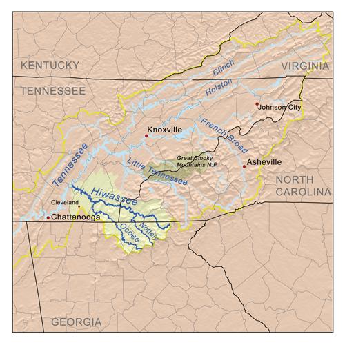 Карта Ocoee